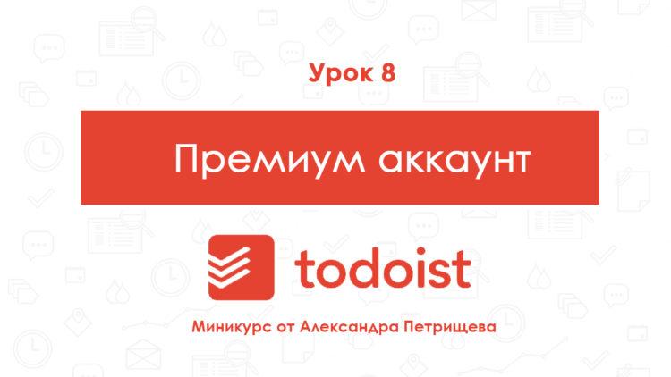 Урок № 8 Премиум возможности в менеджере задач To Do Ist (серия из 9 уроков по работе с менеджером задач To Do Ist от Александра Петрищева)